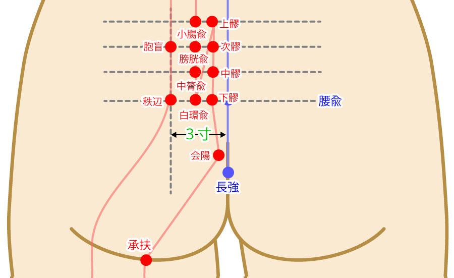 胞肓(ほうこう:BL53)